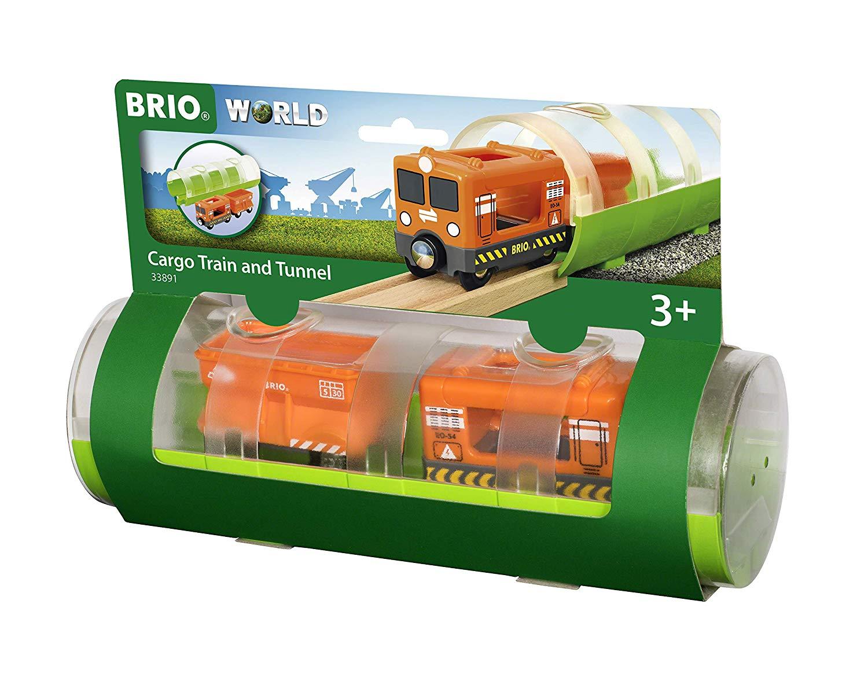 Tunel z pociągiem towarowym - Brio