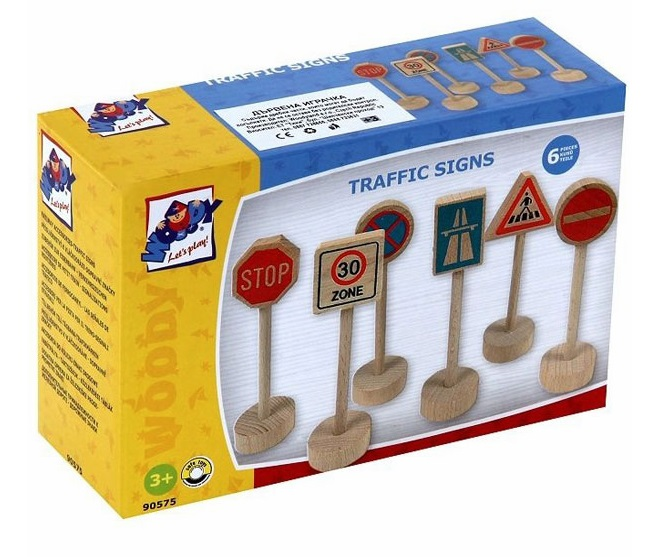 Znaki drogowe drewniane zestaw 6 szt - Inne