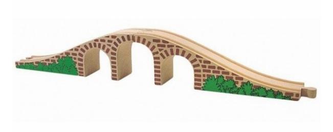 Piękny, drewniany mostek, ślicznie malowany - Inne