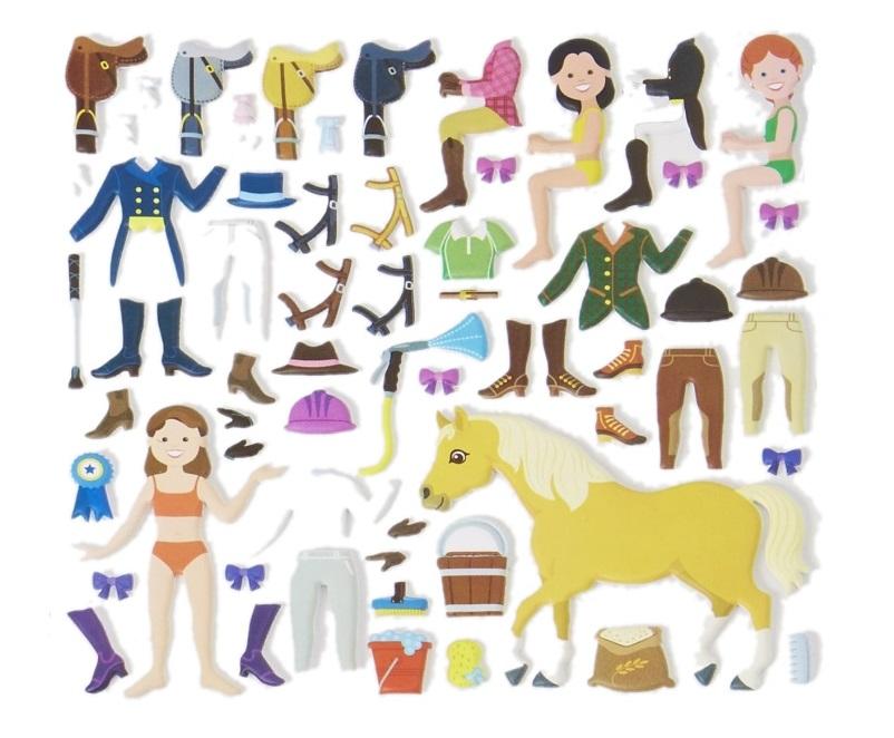 Naklejki bezklejowe, wielokrotne, bardzo grube! Konie - Melissa i Doug