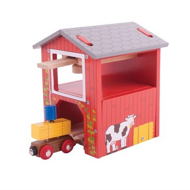 Piętrowy magazyn siana z dźwigiem - kolejowa stodoła - Bigjigs