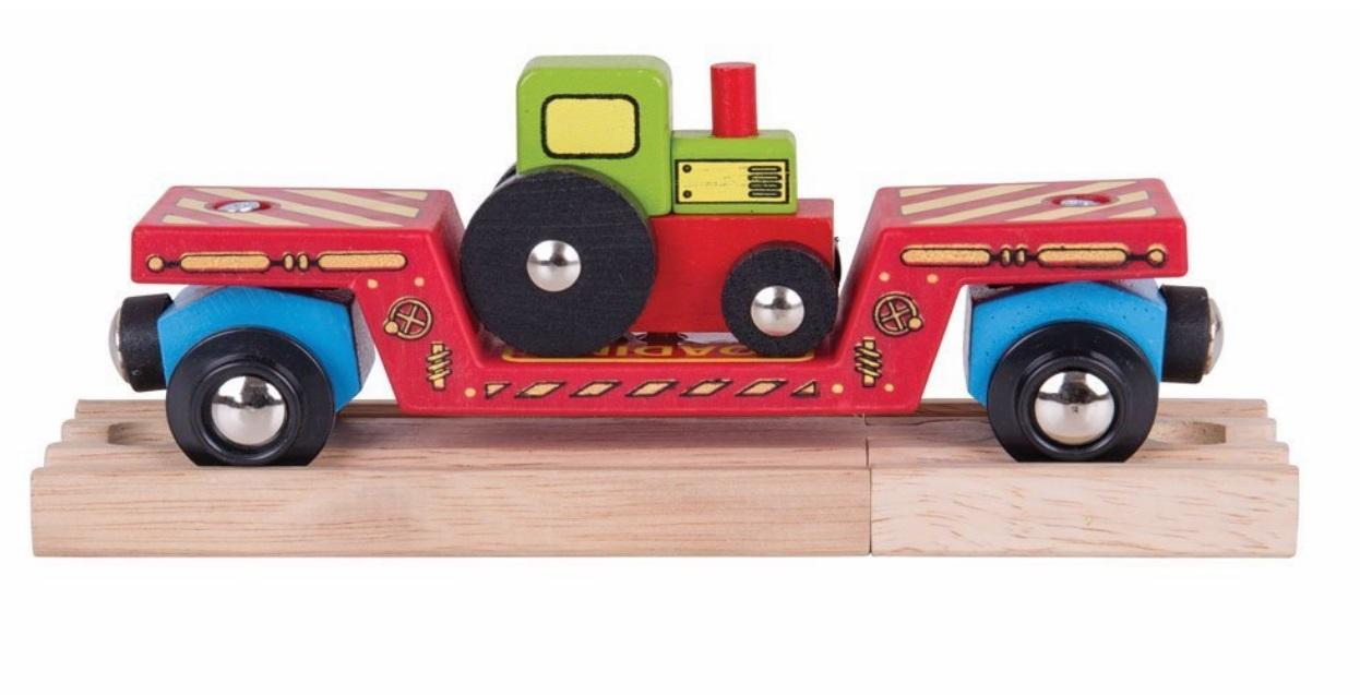 Wagon - platforma transportowa z traktorem - Bigjigs