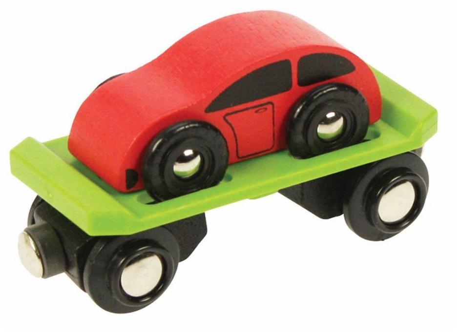 Wagon laweta - platforma do przewozu samochodów - Bigjigs
