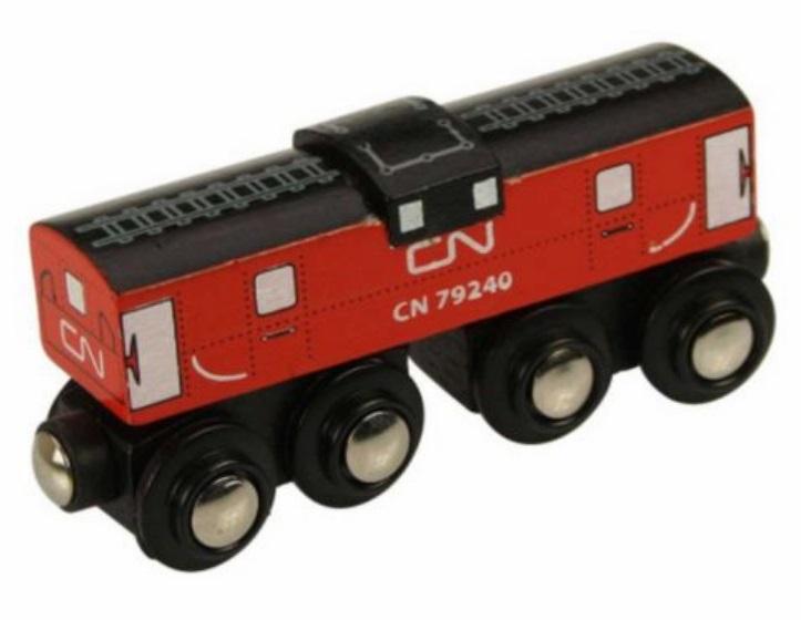 Wagon pasażerski, czerwony, KANADYJSKI, luzem - Bigjigs