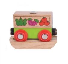 Wagon towarowy z owocami do dźwigów magnetycznych - Bigjigs