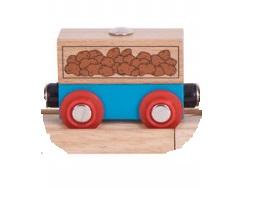 Wagon towarowy z ziemniakami do dźwigów magnetycznych - Bigjigs