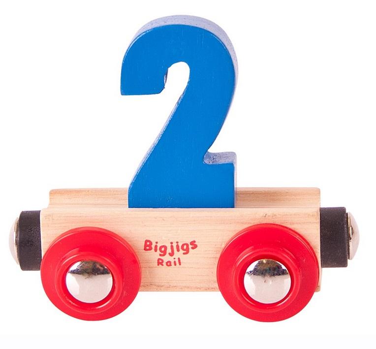 Wagon z cyferkami - Bigjigs