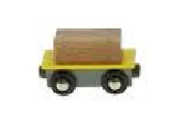 Wagon żółty ze skrzynią - Bigjigs