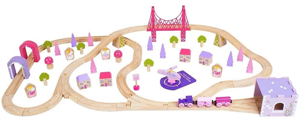 Dla księżniczki wielki zestaw kolejowy - Bigjigs