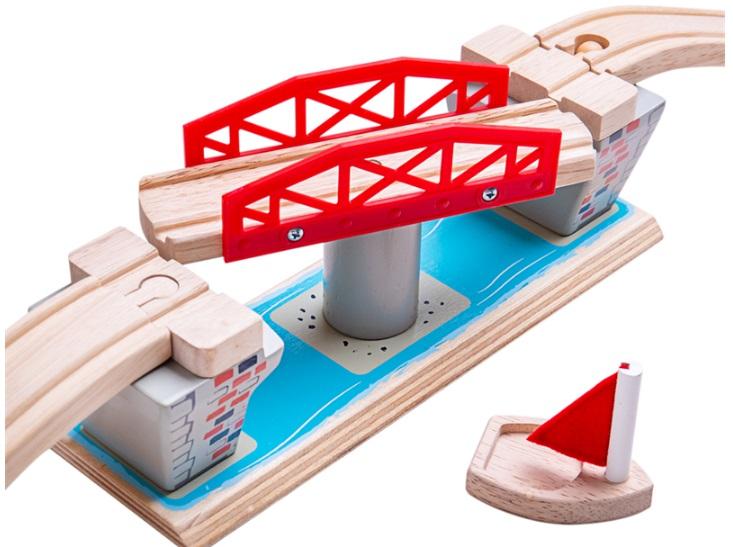 Most zwodzony niebieski ze skrzyżowaniem - Bigjigs