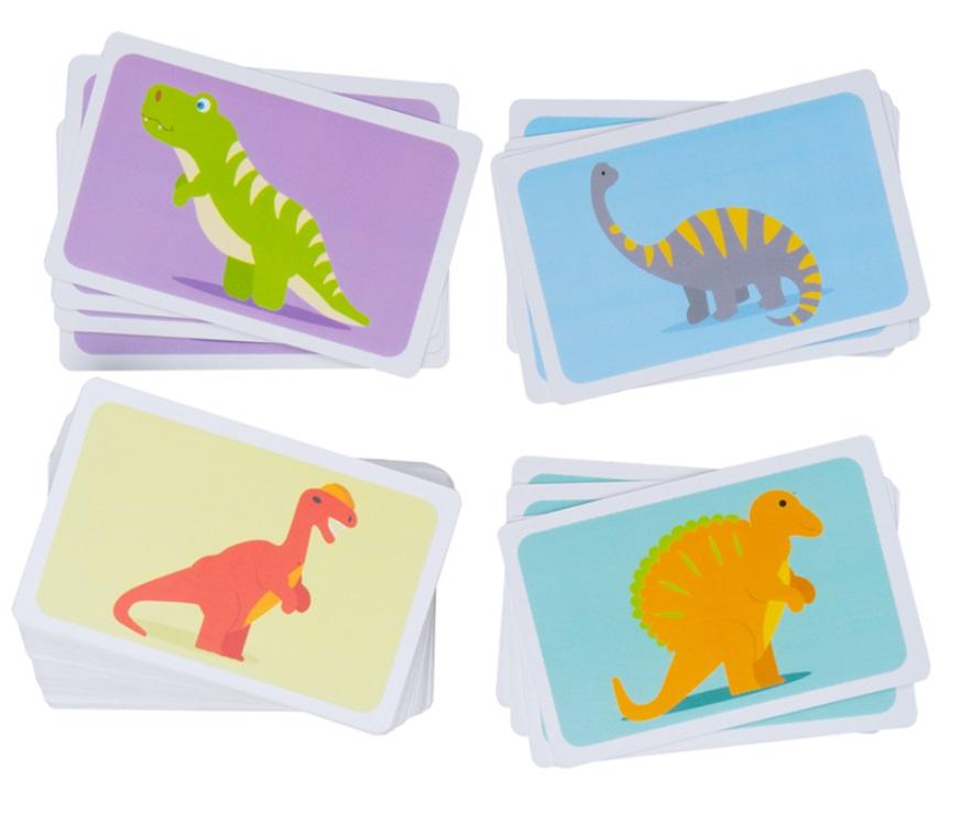 Karty z dinozaurami - Bigjigs