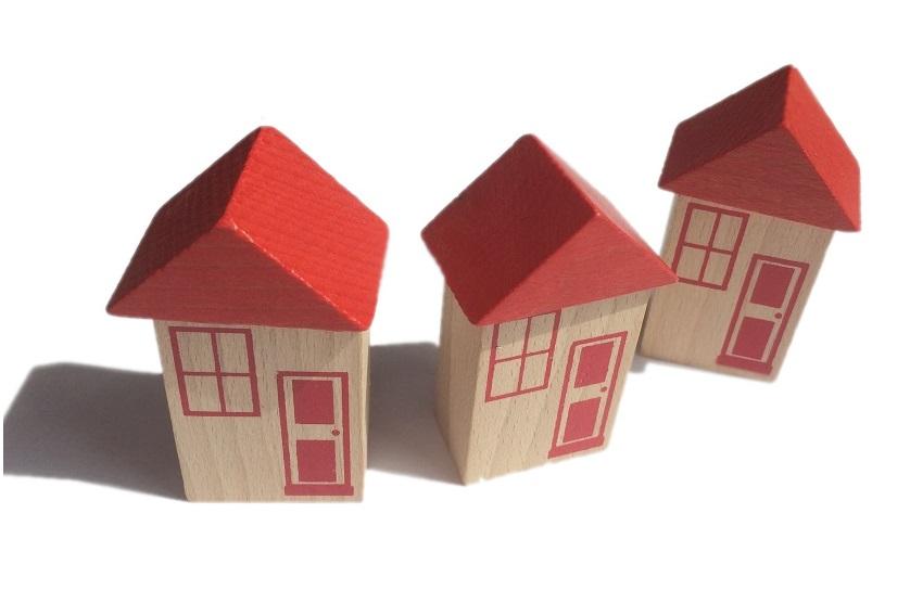 Mała wioska - zestaw 3 domków - Kolejkowy Zakątek