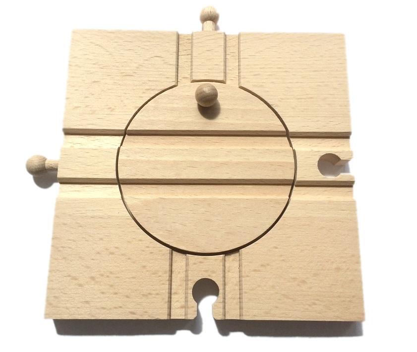 Obrotnica kolejowa - nastawnia - do zestawu kolejek 100% drewniana - Kolejkowy Zakątek