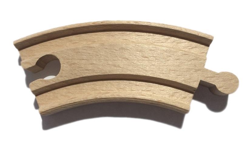 Zakręt krótki - tor drewniany - Kolejkowy Zakątek