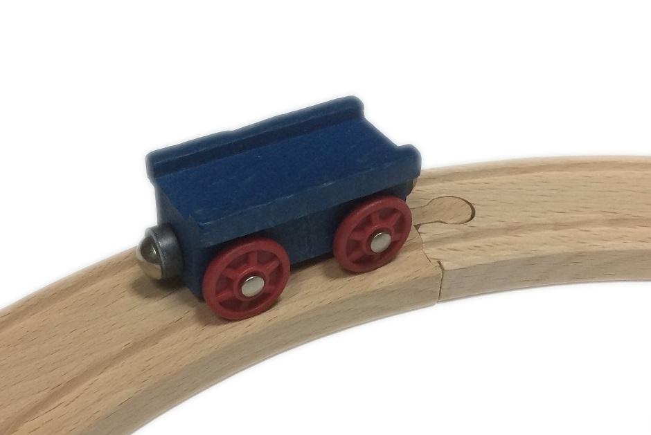 Wagon uniwersalny niebieski - Kolejkowy Zakątek