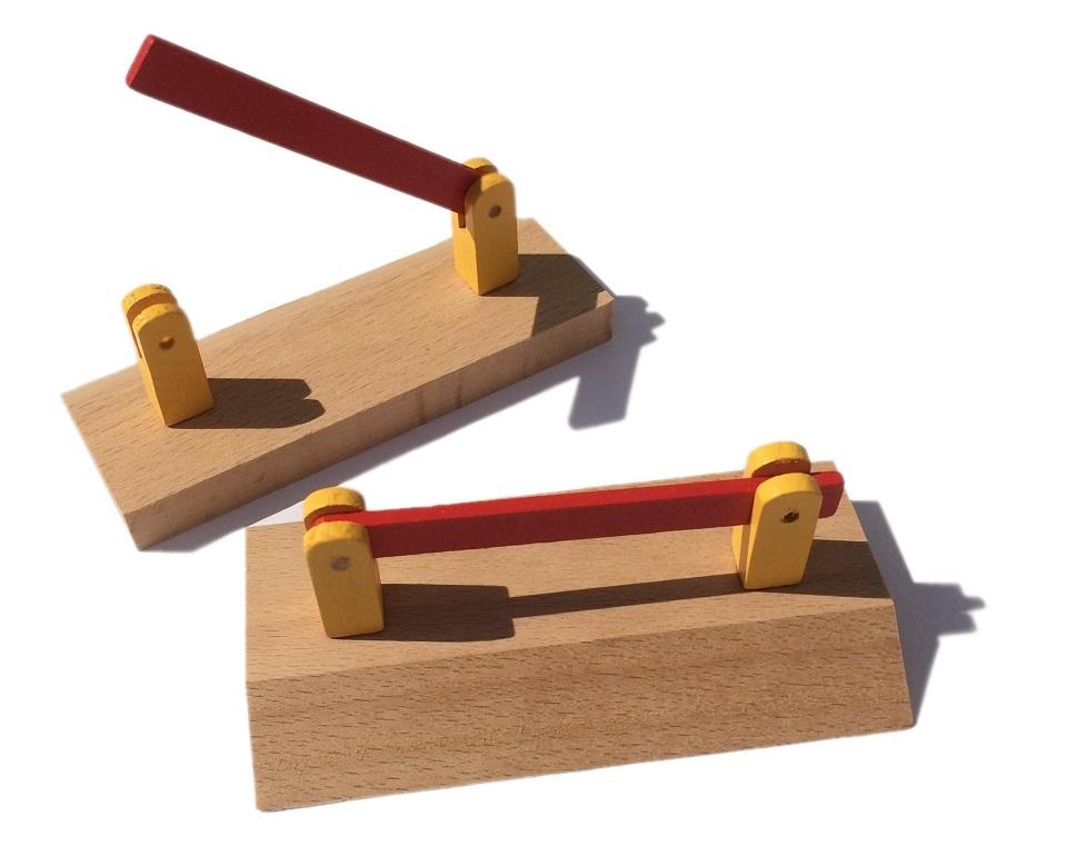 Przejazd kolejowy - zestaw szlabanów drewnianych - Kolejkowy Zakątek