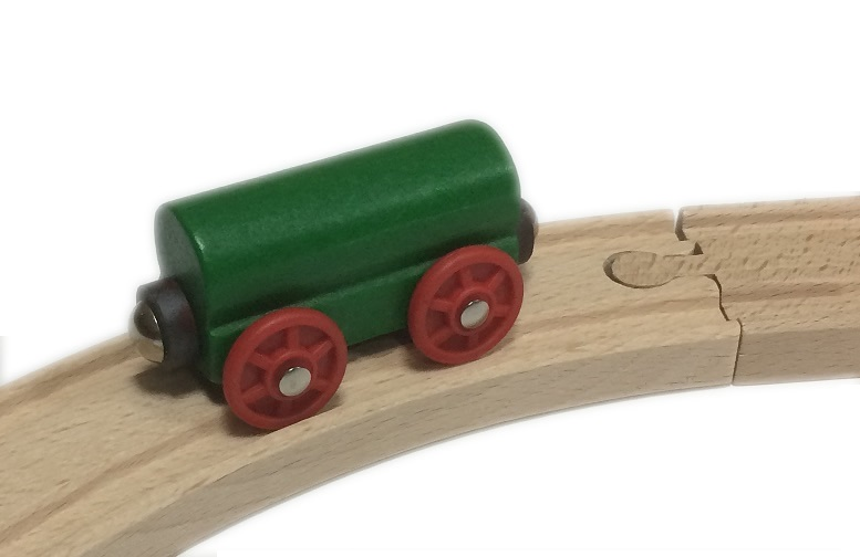 Wagon prosty zielony - Kolejkowy Zakątek