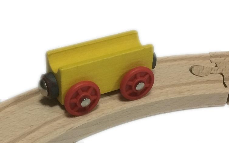 Wagon prosty żółty - Kolejkowy Zakątek