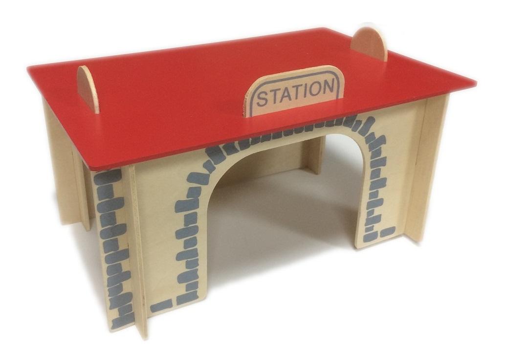 Dworzec kolejowy do składania puzzle - Kolejkowy Zakątek