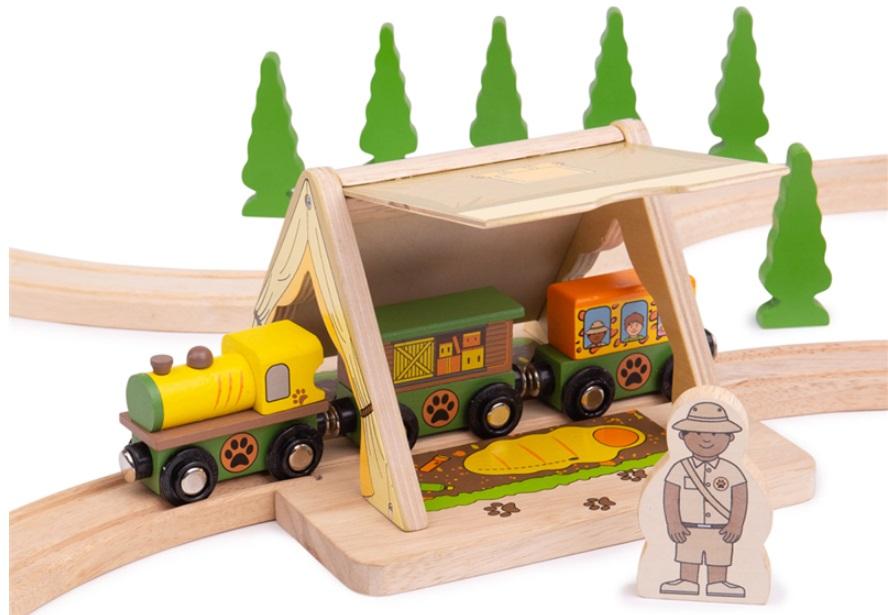 Gwizdek zawiadowcy drewniany - Bigjigs