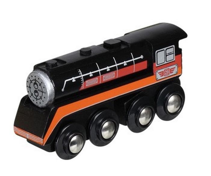 Ciężki, długi parowóz czarno-czerwony - Maxim enterprise inc