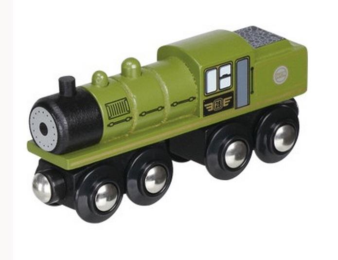 Zielony długi parowóz z wbudowanym zasobnikiem węgla - Maxim enterprise inc