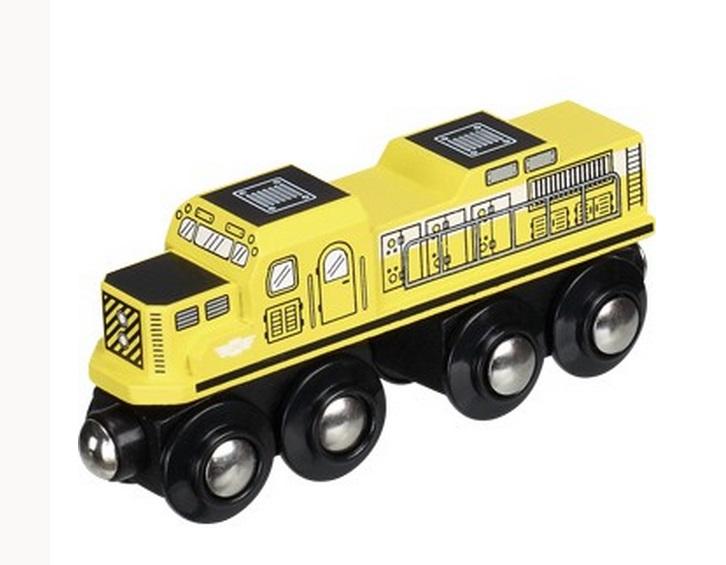 Żółta, silna lokomotywa towarowa - Maxim enterprise inc