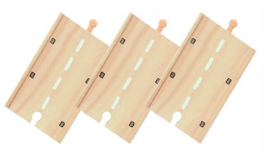 Długa, prosta droga drewniana - zestaw (3) - Bigjigs