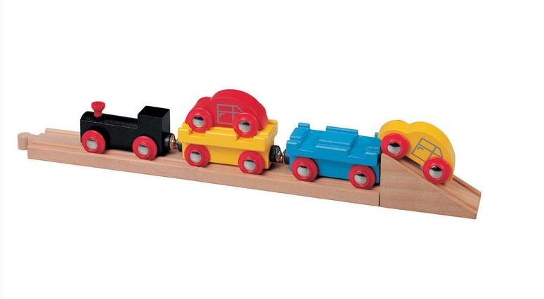 Pociąg do transportu samochodów wraz z torami i rampą - Maxim enterprise inc