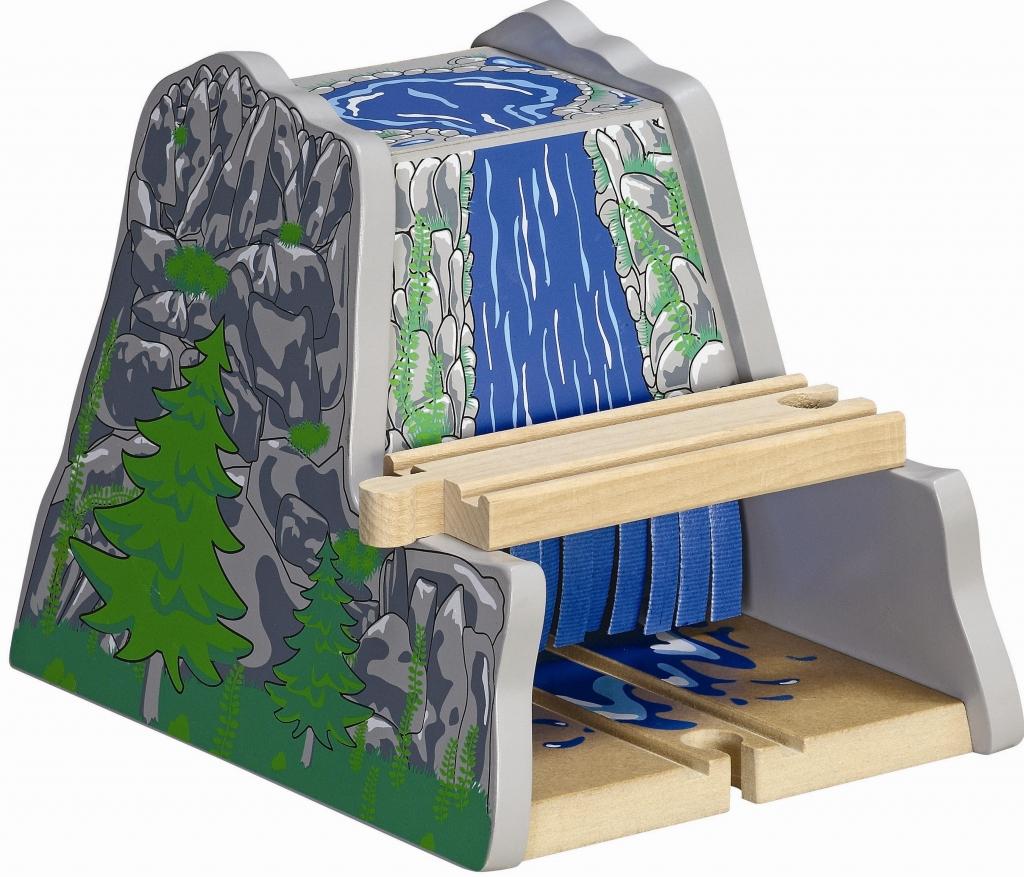 Górski tunel z wodospadem i przejazdem w tunelu - Maxim enterprise inc