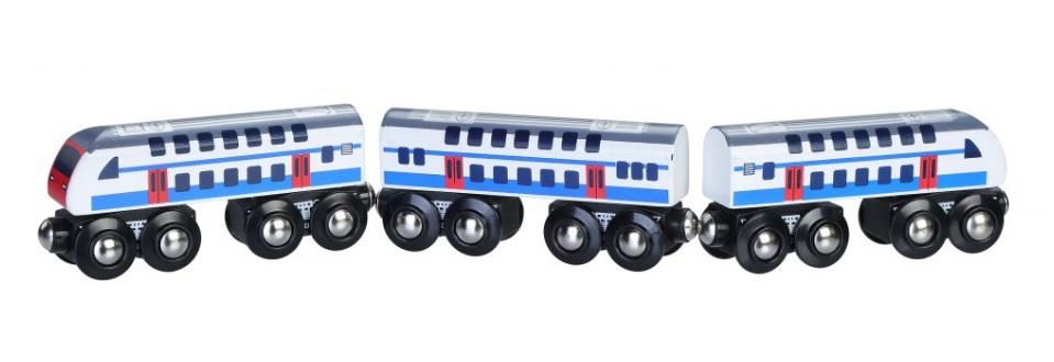 Piętrowy pociąg podmiejski typu pendolino - Maxim enterprise inc