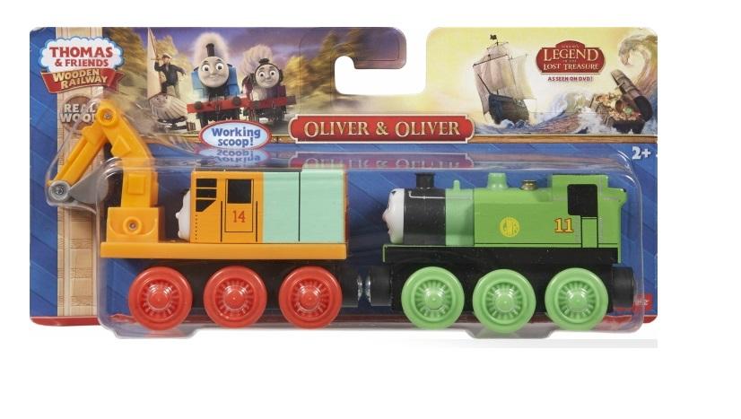 Olek i Olek, zestaw lokomotywa z koparką Oliver - Tomek i przyjaciele