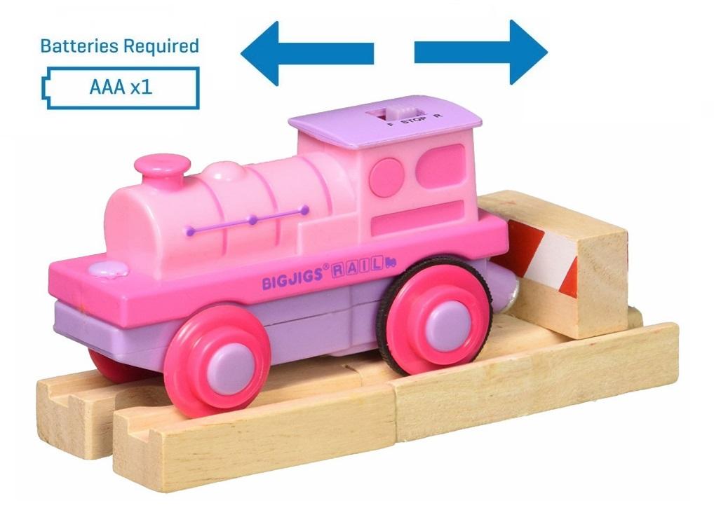 Różowa lokomotywa elektryczna - Bigjigs