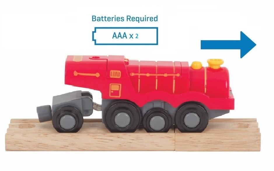 Wielka czerwona lokomotywa typu Scotsman - Bigjigs