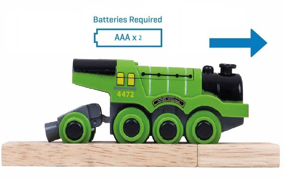 Wielka zielona lokomotywa typu Scotsman - Bigjigs