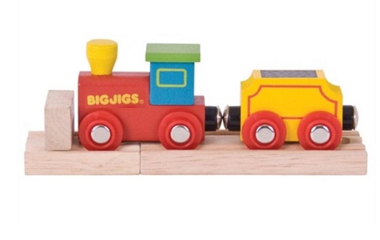 Dzieciowy parowóz z wagonikiem - Bigjigs