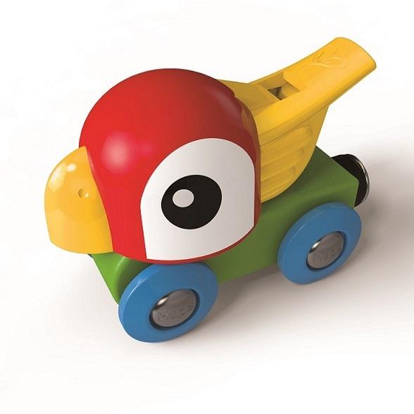 Wagon gwizdek z papugą - Hape