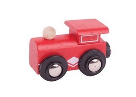 Mini lokomotywa czerwona z magnesem - Bigjigs