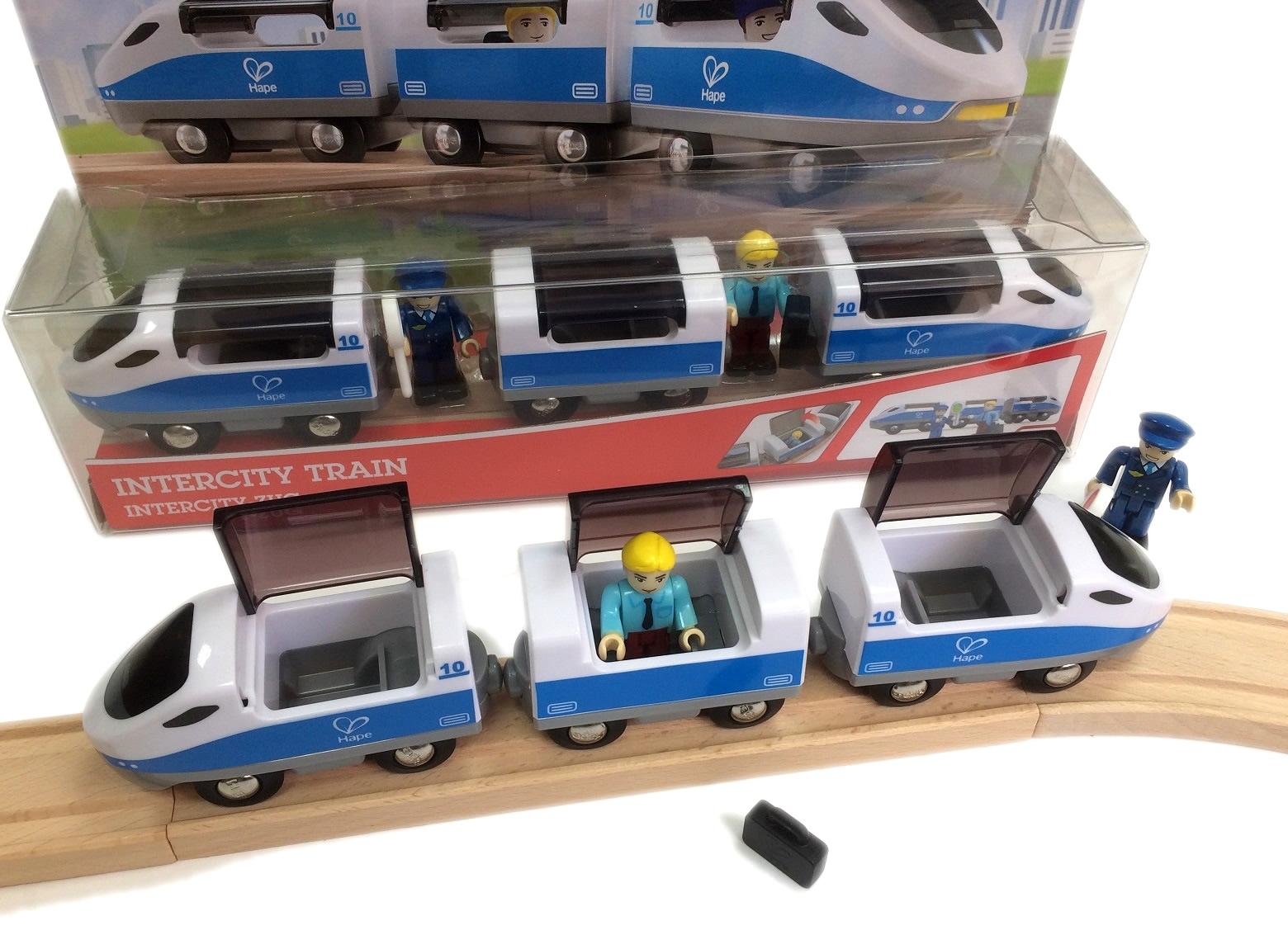 Pociąg pasażerski do wożenia ludzików - Hape