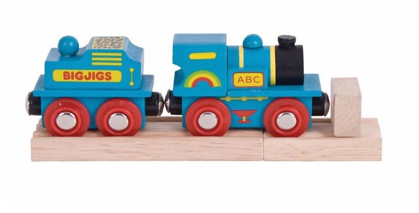 Niebieska lokomotywa ABC - Bigjigs