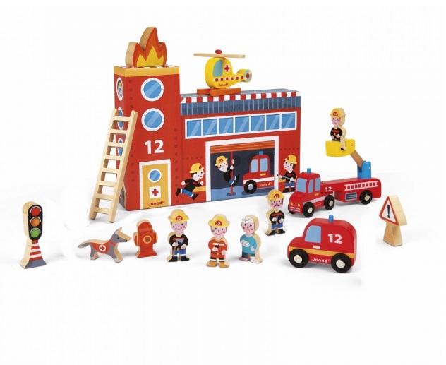 Zestaw strażacki - dekoracje - Janod