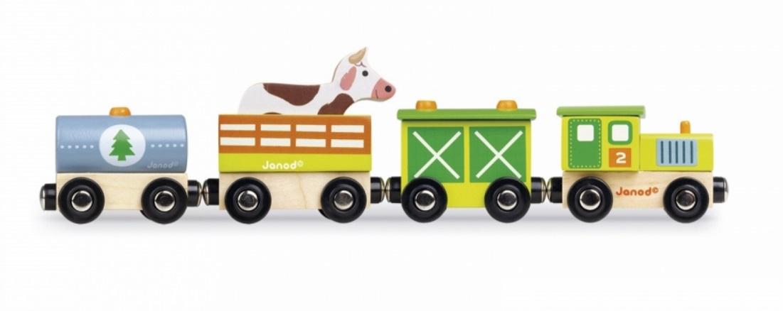 Pociąg farmera z krową - Janod