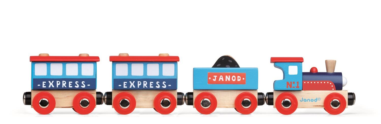 Pociąg miejski, niebieski - Janod