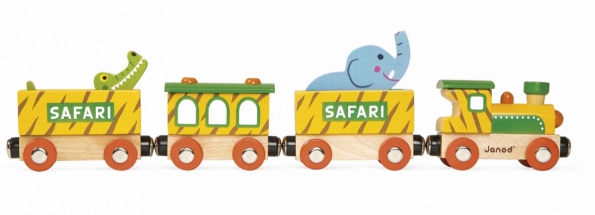Pociąg safari z krokodylem - Janod