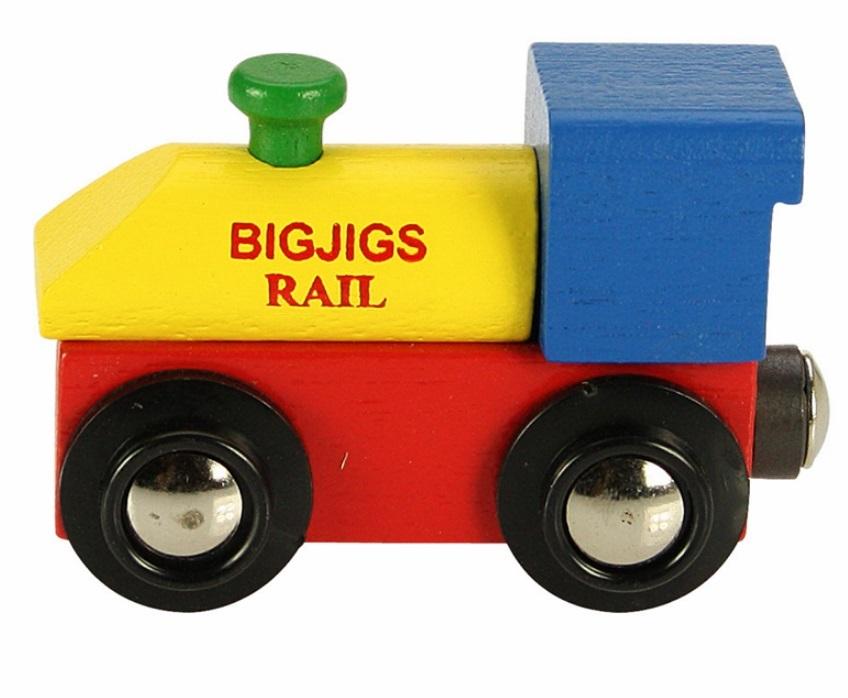 Prosta lokomotywa drewniana - Bigjigs