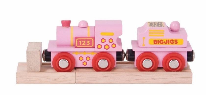 Różowa lokomotywa ABC - Bigjigs