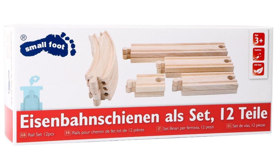 Zestaw 12 solidnych torów drewnianych Small foot - Small foot