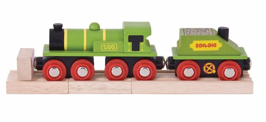 Zielona lokomotywa ABC - Bigjigs