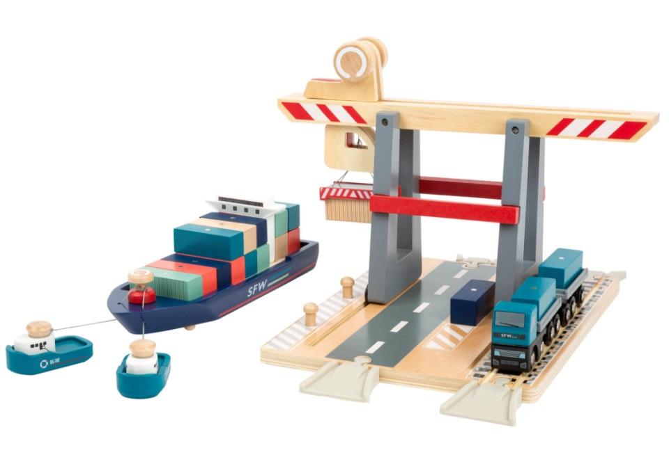 Port transportowy z dźwigiem - Small foot