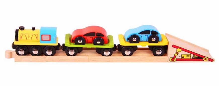 Pociąg do przewozu samochodów - Bigjigs